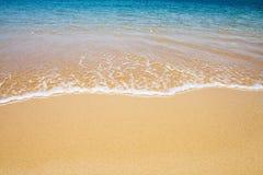 tła plaży fala Obrazy Royalty Free