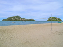 tła plaży odosobniony siatkówki biel Obrazy Royalty Free