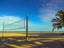tła plaży odosobniony siatkówki biel Fotografia Stock