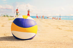 tła plaży odosobniony siatkówki biel Fotografia Royalty Free