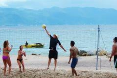 tła plaży odosobniony siatkówki biel Zdjęcia Royalty Free