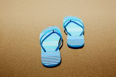 tła plaży trzepnięcia klap ilustracyjni odosobneni sandały ustawiający wektorowy biel Obrazy Stock