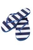 tła plaży trzepnięcia klap ilustracyjni odosobneni sandały ustawiający wektorowy biel Zdjęcia Royalty Free