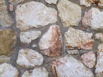 Tła pojęcia Sucha Kamienna ściana Zdjęcia Royalty Free