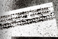 tła projekta ilustracyjny opony śladu biel Zdjęcia Stock