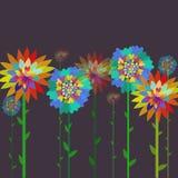 tła projekta kwieciści kwiaty deseniują bezszwowego stylowego rocznika ilustracja wektor