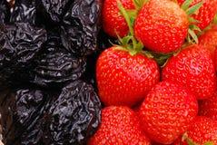 tła prune truskawka zdjęcie stock