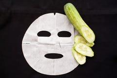 Tła prześcieradła maski naturalny ogórek Fotografia Stock