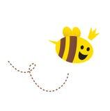 tła pszczoła odizolowywający macierzysty królowej biel Zdjęcie Stock