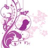 tła ptaka florals ilustracja wektor