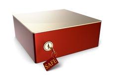 tła pudełka depozytu odosobniony bezpieczny biel Obraz Stock