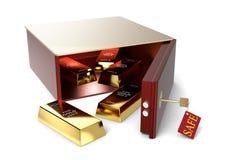 tła pudełka depozytu odosobniony bezpieczny biel Zdjęcie Stock