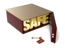 tła pudełka depozytu odosobniony bezpieczny biel Obraz Royalty Free