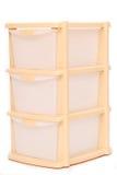 tła pudełka odosobniony plastikowy składowy biel Obraz Stock