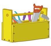 tła pudełka zakończenie odizolowywający narzędzie w górę biel Zdjęcia Royalty Free