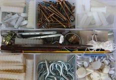 tła pudełka zakończenie odizolowywający narzędzie w górę biel Zdjęcie Stock