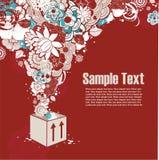 tła pudełkowatego cur target1704_0_ kwiaty Fotografia Stock