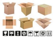tła pudełkowaty kartonu cyfrowo wytwarzający wizerunku biel Obraz Stock