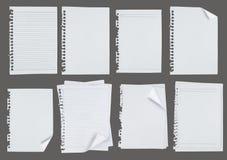 tła pusta szarość notatka nad papierem Obrazy Royalty Free