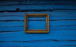 Tła pustego miejsca rama na starej drewnianej ścianie Tło Fotografia Royalty Free