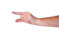 tła pustej ręki odosobniony biel Zdjęcie Stock