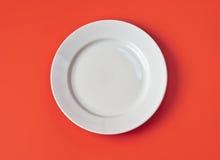 tła pusty półkowy czerwony odgórnego widok biel zdjęcie stock