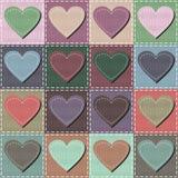 tła różni patchworku wzory Fotografia Stock