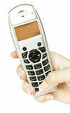 tła ręka odizolowywająca telefonu biała kobieta Obraz Stock