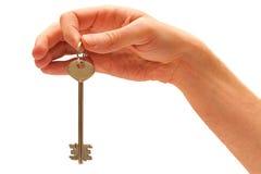 tła ręka odizolowywający kluczowy biel Fotografia Royalty Free