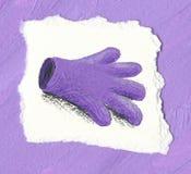 tła rękawiczki purpury Fotografia Stock