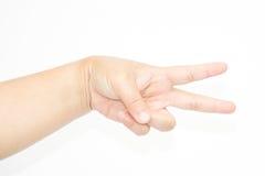 tła ręki biała kobieta Zdjęcia Royalty Free