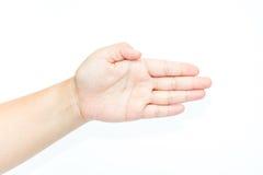 tła ręki biała kobieta Zdjęcie Stock
