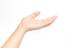 tła ręki biała kobieta Fotografia Stock