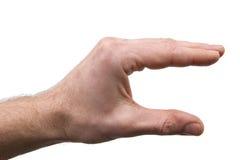 tła ręki biel Zdjęcie Royalty Free