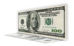 tła rachunku dolar sto jeden biel ilustracja wektor