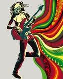 tła reggae piosenkarz ilustracji