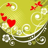 tła romantyczny zielony royalty ilustracja