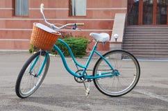 tła rowerowy błękitny ilustraci wektoru biel Zdjęcia Royalty Free