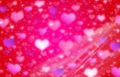 tła rozmyty serc świateł valentine ilustracji