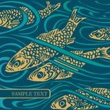 tła ryba wektor ilustracja wektor