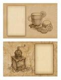 tła rysunków ołówek Zdjęcie Stock