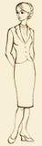 tła rysunku ołówka drzewny biel Nakreślenie młoda biznesowa kobieta Obraz Stock