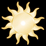 tła słońce czarny złoty Obraz Stock
