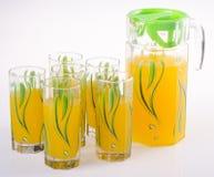 tła słoju soku pomarańczowy biel na tle obrazy stock