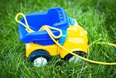 tła samochód odizolowywający zabawkarski biel Zdjęcie Stock