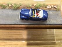 tła samochód odizolowywający zabawkarski biel Obrazy Stock