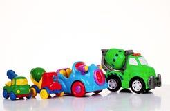 tła samochód odizolowywający zabawkarski biel Obraz Stock