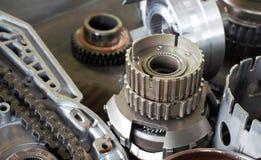 tła samochodowe głębii pola ostrości gearbox część spłycają Płytka głębia pole z tłem rozdziela w ostrości Obraz Royalty Free