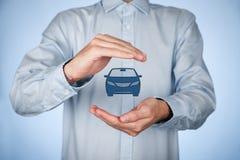 tła samochodowy ilustracyjny ubezpieczenia wektoru biel Obrazy Royalty Free