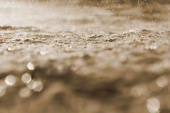 Tła sepiowy, abstrakcjonistyczny tło wodny, i bokeh, wodny tło beż Obrazy Royalty Free